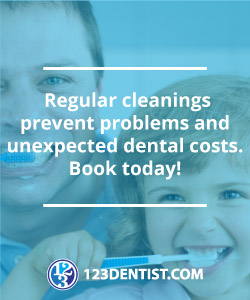 Regular cleanings prevent problems and unexpected dental costs.